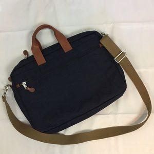 J Crew Harwick nylon leather messenger bag